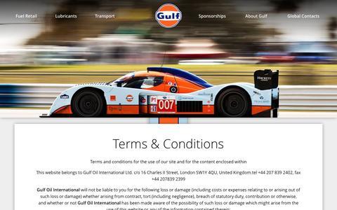 Screenshot of Terms Page gulfoilltd.com - Terms & Conditions – Gulf Oil International - captured Nov. 17, 2016