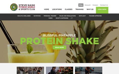 Screenshot of Blog snclubs.com - Blog - Steve Nash Fitness World and Sports Club | Steve Nash Fitness World and Sports Club - captured Jan. 6, 2016