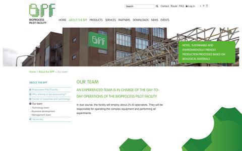 Screenshot of Team Page bpf.eu - Our team :: BPF - captured Oct. 5, 2014