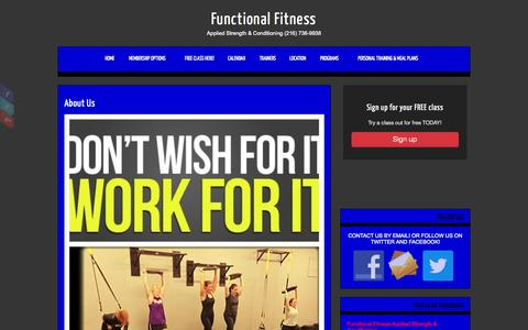 Screenshot of About Page functionalfitnesscleveland.com - Functional Fitness » About Us - captured Oct. 6, 2014