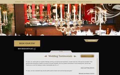 Screenshot of Testimonials Page brackencourt.ie - Hotel Wedding Venues Dublin I Dublin Wedding Venue Reviews - captured Oct. 6, 2018