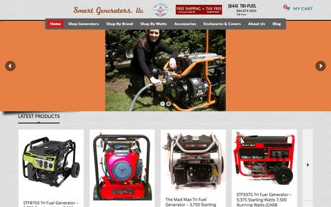Screenshot of Home Page nysmartgenerators.com - Smart Generators - The Tri-Fuel Generator Specialists - captured Nov. 30, 2016