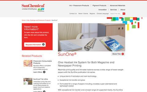 Heatset Ink | SunOne | Sun Chemical