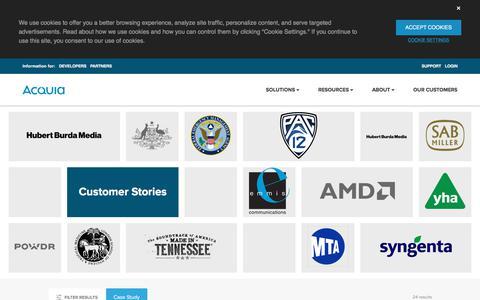Screenshot of Case Studies Page acquia.com - Case Studies | Acquia - captured Aug. 3, 2018