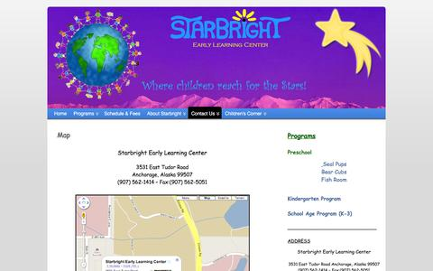 Screenshot of Maps & Directions Page starbrightelc.com - map - captured March 11, 2016