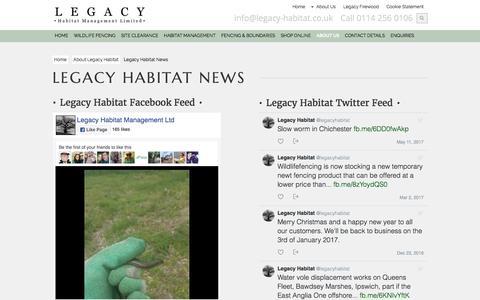 Screenshot of Press Page legacy-habitat.co.uk - Legacy Habitat News   Latest News Update From Legacy Habitat - captured July 29, 2017