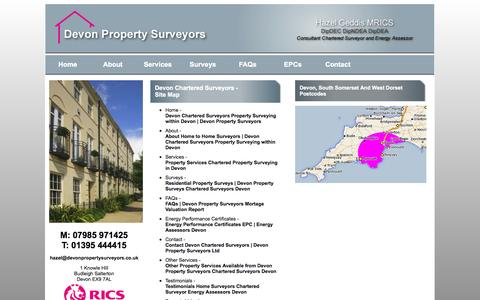 Screenshot of Site Map Page devonpropertysurveyors.co.uk - Site Map Devon Chartered Surveyors | Devon Property Surveyors Ltd - captured Sept. 30, 2014