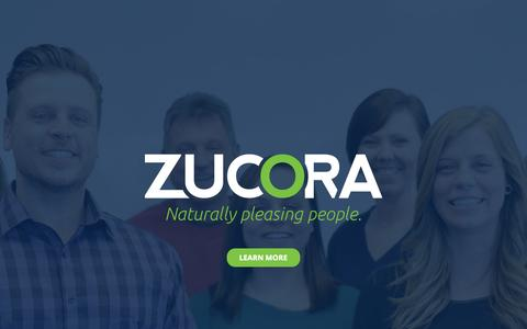 Screenshot of Contact Page zucora.com - Zucora | Naturally Pleasing People - captured Aug. 16, 2015