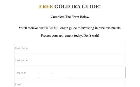 Screenshot of goldco.com - Free Gold IRA Guide - captured Sept. 23, 2017