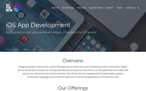 Screenshot of Contact Page tothenew.com - iOS Application Development Services | Custom iOS App Services - captured Nov. 12, 2016