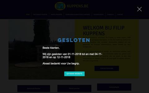 Screenshot of Home Page kuppens.be - Kalken Poorten Kuppens, Poorten Kuppens - captured Oct. 22, 2018