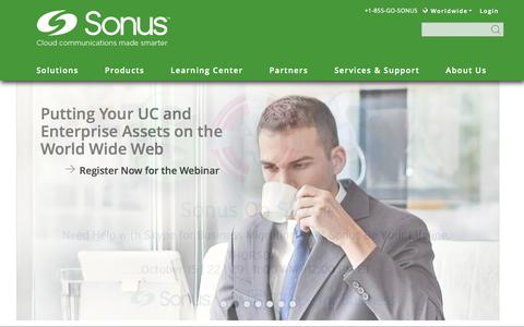 Screenshot of Services Page sonus.net - Enabling and Securing Real-Time Communications For Enterprises and Service Providers | Sonus - captured Oct. 25, 2015
