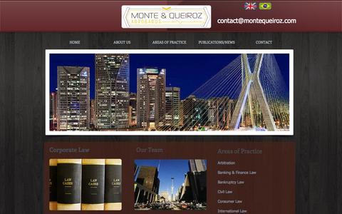 Screenshot of Home Page montequeiroz.com - Monte e Queiroz Brazil Law Firm | Brazilian Legal Services - captured Oct. 6, 2014