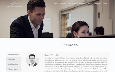 Screenshot of Team Page miinto.com - Management – Miinto.com - captured Sept. 19, 2017
