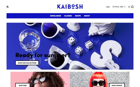 Screenshot of Home Page kaibosh.com - Kaibosh - captured June 8, 2017