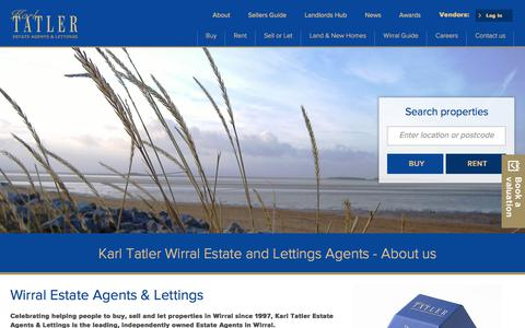 Screenshot of About Page karltatler.com - Karl Tatler Wirral Estate and Lettings Agents - About us - captured June 29, 2017
