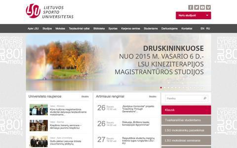 Pradžia | Lietuvos sporto universitetas
