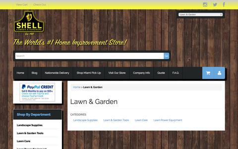 Screenshot of shelllumber.com - Lawn & Garden - captured Oct. 26, 2017