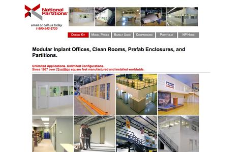 Screenshot of Pricing Page n-p.com - Prefabricated Inplant Offices, Modular Clean Rooms, by manufacturer National Partitions and Interiors. Pricing for standard models. - captured Oct. 27, 2014