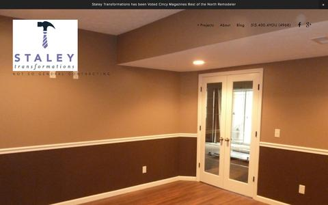 Screenshot of Home Page staleytransformations.com - Staley Transformations - captured Feb. 22, 2016