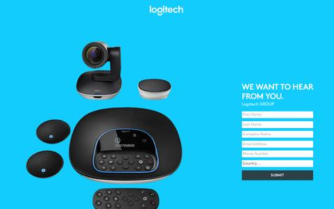Screenshot of Landing Page logitech.com - Logitech GROUP | Contact Us - captured May 24, 2017