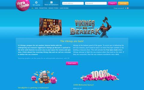 Screenshot of Press Page verajohn.com - Casino news | Vera&John - captured Nov. 23, 2016
