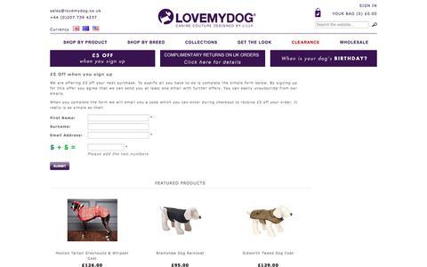 Screenshot of Signup Page lovemydog.co.uk - Sign Up - captured July 17, 2016