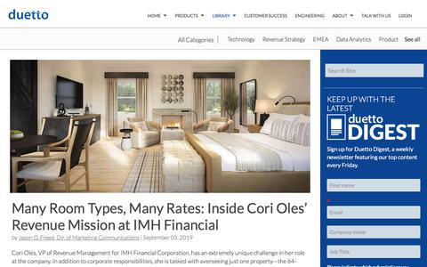 Screenshot of Pricing Page duettocloud.com - Many Room Types, Many Rates: Inside Cori Oles' Revenue Mission at IMH Financial - captured Jan. 6, 2020