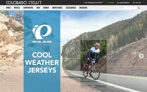 Screenshot of Home Page coloradocyclist.com - The Colorado Cyclist | Shop for Bicycles, Bike Parts and Accessories - captured Jan. 5, 2016