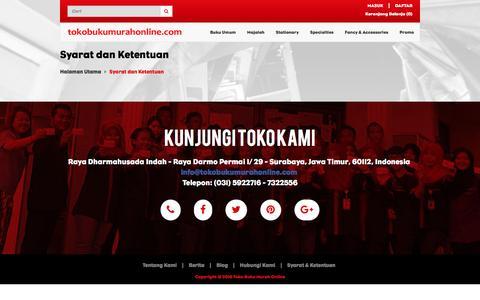 Screenshot of Terms Page tokobukumurahonline.com - Syarat dan Ketentuan | tokobukumurahonline.com - captured Dec. 3, 2016