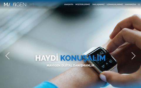 Screenshot of Home Page mavigen.com - Mavigen Digital Consultancy - captured April 13, 2017