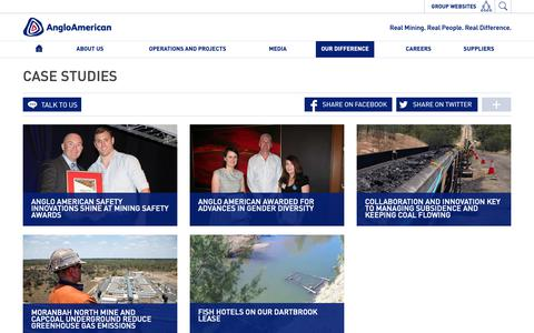 Screenshot of Case Studies Page angloamerican.com - Case studies – Anglo American Australia - captured Oct. 3, 2018
