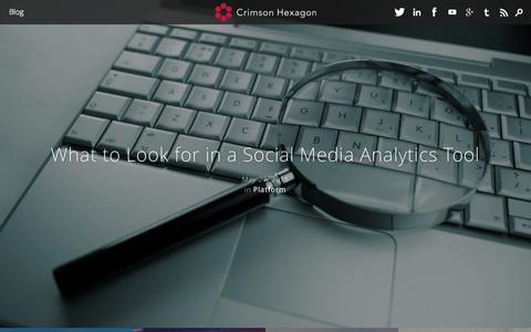 Screenshot of Blog crimsonhexagon.com - Blog | Crimson Hexagon - captured July 3, 2015
