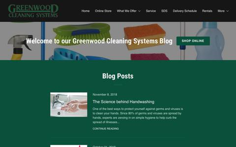 Screenshot of Blog greenwoodcs.com - Blog | Greenwood Cleaning Systems - captured Nov. 11, 2018