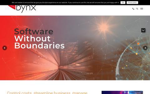 Screenshot of Home Page bynx.com - Bynx Automotive Software and Fleet Management Software Solutions - captured Nov. 6, 2018