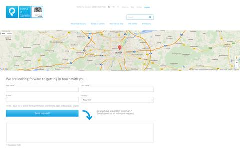 Screenshot of Contact Page invest-in-bavaria.com - Contact - Invest in Bavaria - captured June 9, 2016