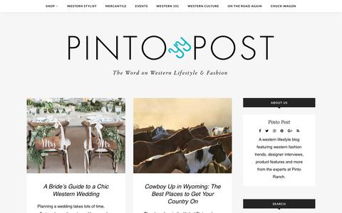 Screenshot of Blog pintoranch.com - Pinto Post – The Word on Western Lifestyle & Fashion - captured July 11, 2017