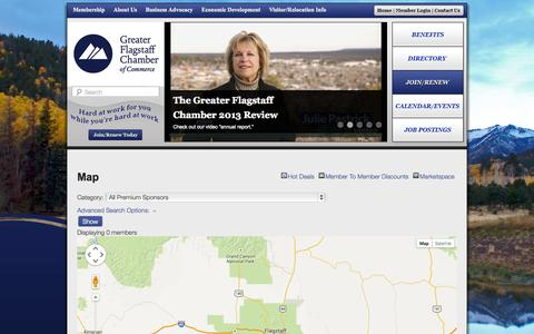 Screenshot of Maps & Directions Page flagstaffchamber.com - Map - Flagstaff Chamber of Commerce | Greater Flagstaff Chamber of Commerce - captured Oct. 6, 2014