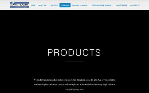 Screenshot of Products Page hackplanet.in - Products | Hack Planet Technologies - captured July 12, 2017