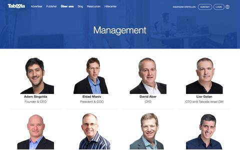 Screenshot of Team Page taboola.com - Management | Taboola - captured April 13, 2018