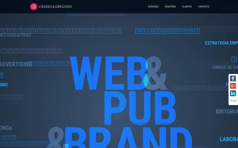 Screenshot of Home Page crassoyoregioni.com.ar - Crasso & Oregioni   Estrategia de diseño y comunicación :: Servicios de Imagen de marca, Diseño Web y Diseño Editorial - captured Aug. 27, 2017