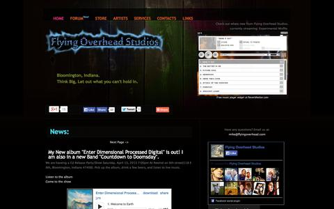 Screenshot of Press Page Site Map Page flyingoverhead.com - Flying overhead Studios - captured Oct. 23, 2014
