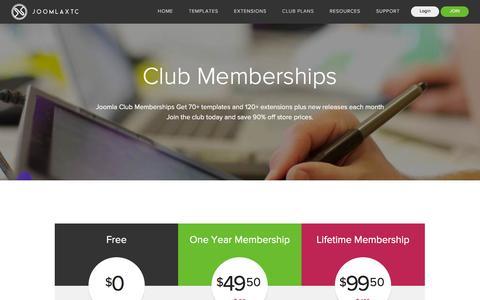 Screenshot of Signup Page joomlaxtc.com - JoomlaXTC Subscription Packages - captured Dec. 3, 2015