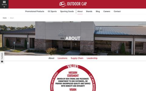Screenshot of About Page outdoorcap.com - About   Outdoor Cap Company - captured Oct. 18, 2018