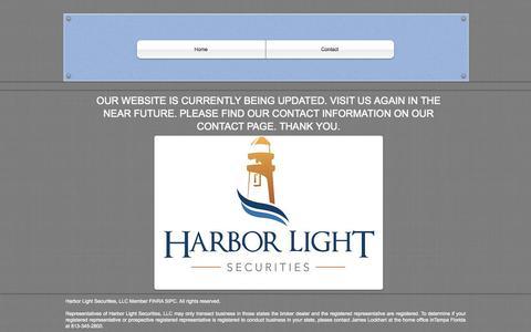 Screenshot of Home Page hlsecurities.com - harborlightsec - captured Oct. 2, 2014