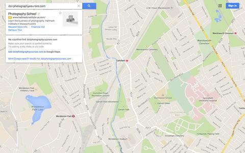 Screenshot of Maps & Directions Page google.co.uk - Google Maps - captured Nov. 3, 2014