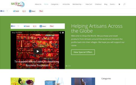 Screenshot of Home Page shop-the-world.org - Shop the World - captured Sept. 23, 2014