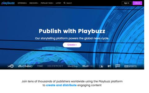 Publish with Playbuzz - Playbuzz