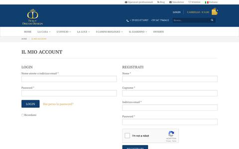 Screenshot of Login Page italydreamdesign.com - Il mio account - Italy Dream Design - captured Oct. 15, 2017