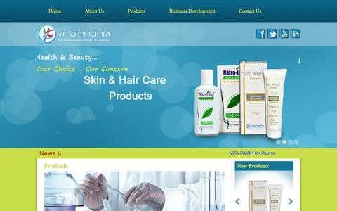 Screenshot of Products Page vitapharm-eg.com - Vita Pharm - captured Oct. 26, 2014
